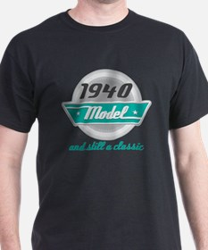 1940 Birthday Vintage Chrome T-Shirt
