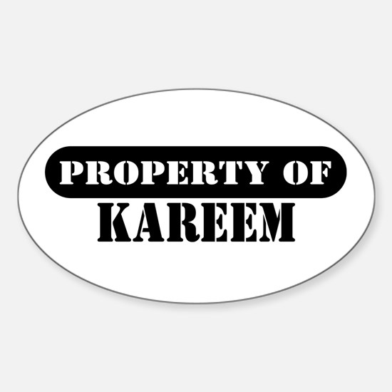 Property of Kareem Oval Decal