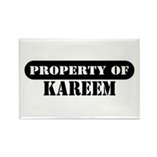 Property of Kareem Rectangle Magnet