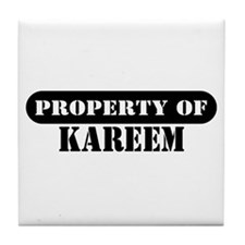 Property of Kareem Tile Coaster