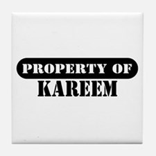 Property of Kareem Tile Coaster