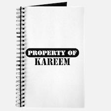 Property of Kareem Journal