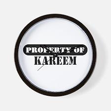 Property of Kareem Wall Clock