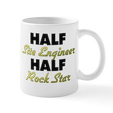 Half Site Engineer Half Rock Star Mugs