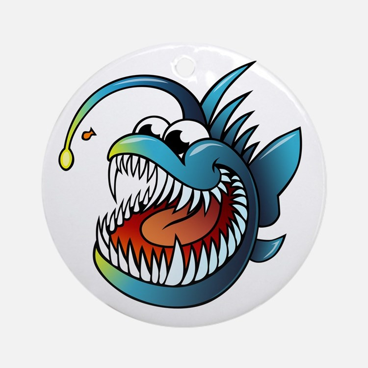 Cartoon Angler Fish Ornament (Round)