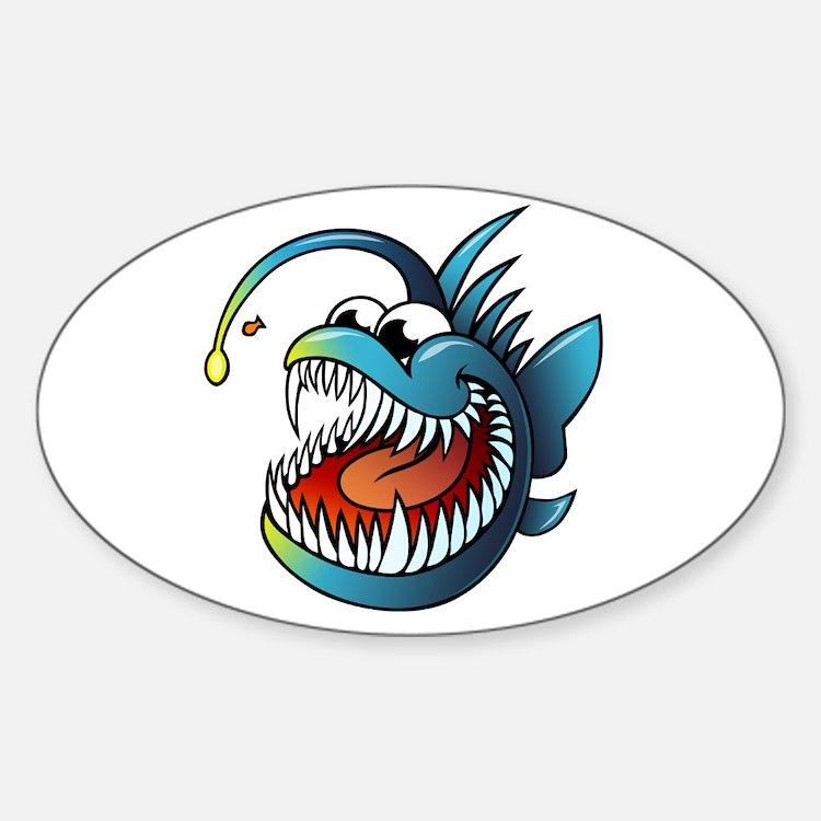 Cartoon Angler Fish Decal