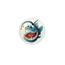 Cartoon Angler Fish Mini Button