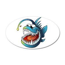 Cartoon Angler Fish Wall Decal
