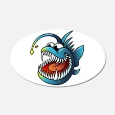 Cartoon Angler Fish Wall Decal