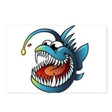 Cartoon Angler Fish Postcards (Package of 8)