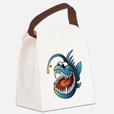 Cartoon Angler Fish Canvas Lunch Bag