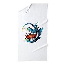 Cartoon Angler Fish Beach Towel