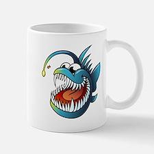 Cartoon Angler Fish Mugs