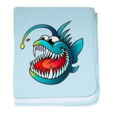 Cartoon Angler Fish baby blanket