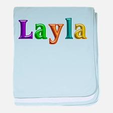 Layla Shiny Colors baby blanket