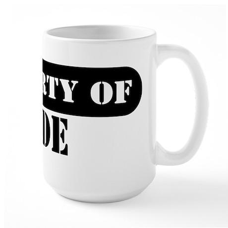 Property of Jude Large Mug