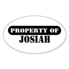 Property of Josiah Oval Decal