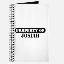 Property of Josiah Journal