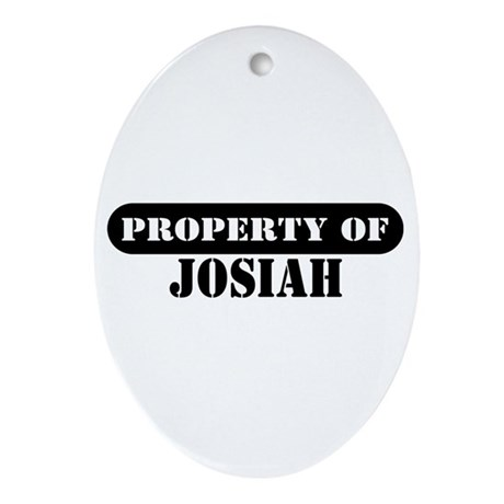 Property of Josiah Oval Ornament
