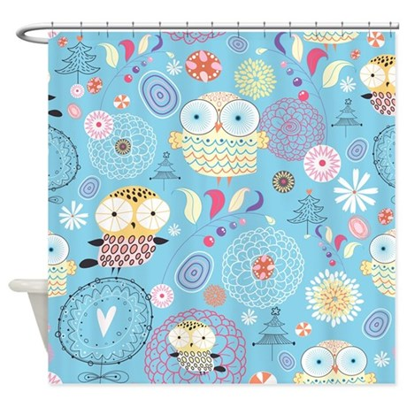 Cute Owls Shower Curtain By BestShowerCurtains