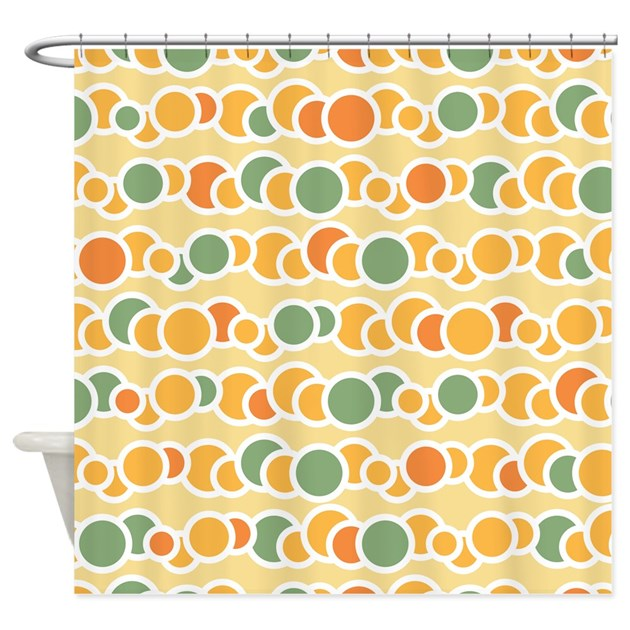 Funky Kitchen Curtains: Funky Circles Shower Curtain By BestShowerCurtains