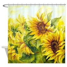 Sunflowers Oil Painting Shower Curtain