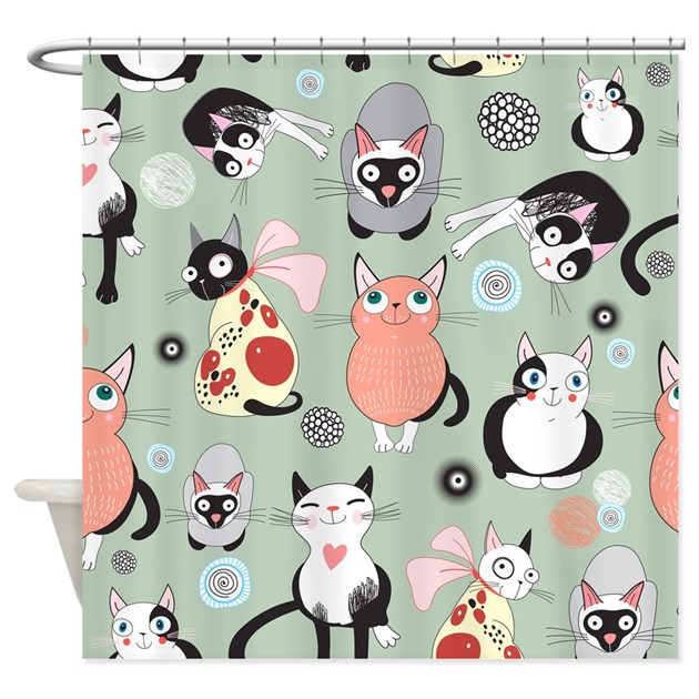 Cute Cats Shower Curtain By BestShowerCurtains