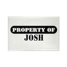 Property of Josh Rectangle Magnet