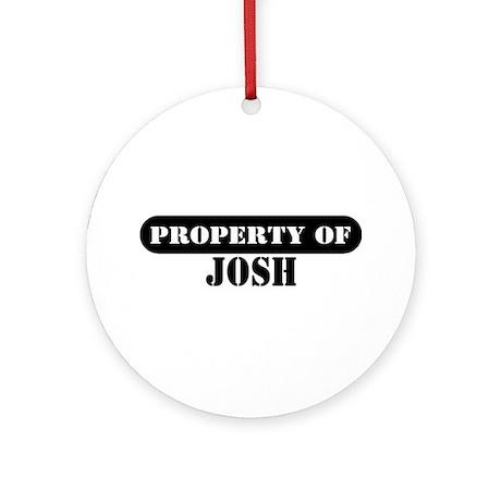 Property of Josh Ornament (Round)