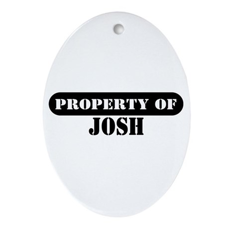 Property of Josh Oval Ornament