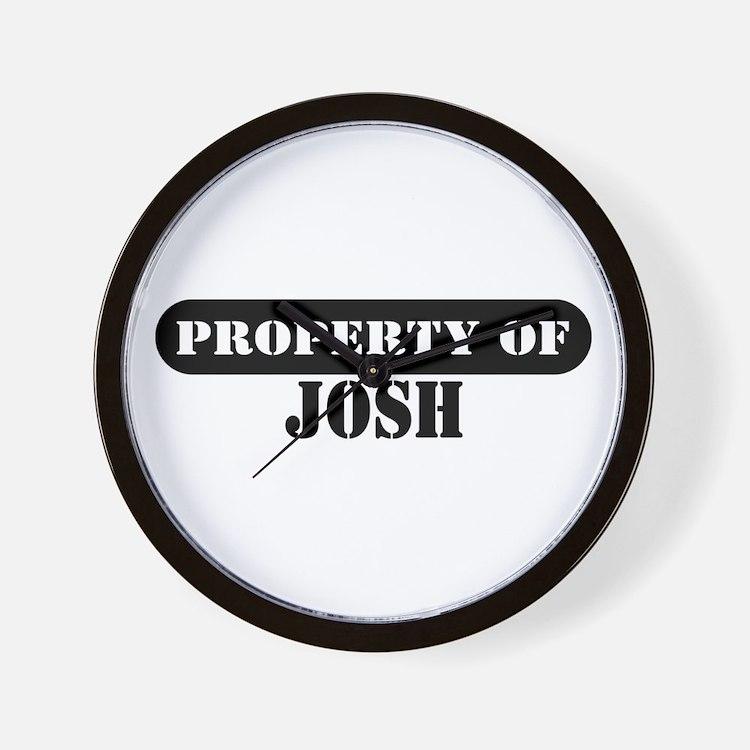 Property of Josh Wall Clock