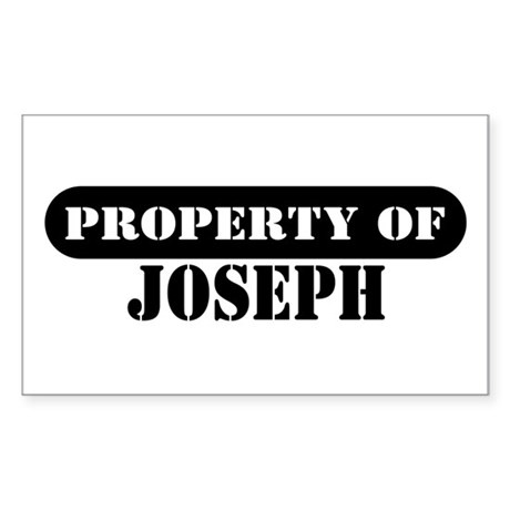 Property of Joseph Rectangle Sticker