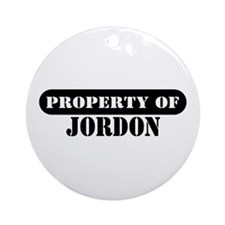 Property of Jordon Ornament (Round)