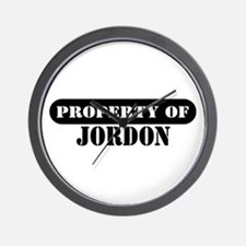 Property of Jordon Wall Clock