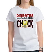 Diabetes Messed With The Wrong Chick Tee