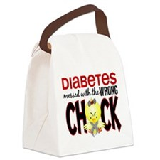 Diabetes Messed With The Wrong Chick Canvas Lunch