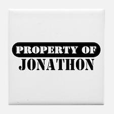 Property of Jonathon Tile Coaster