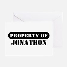 Property of Jonathon Greeting Cards (Pk of 10)