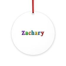 Zachary Shiny Colors Round Ornament