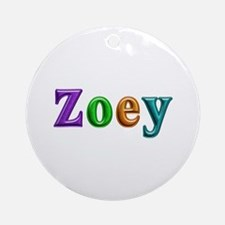 Zoey Shiny Colors Round Ornament
