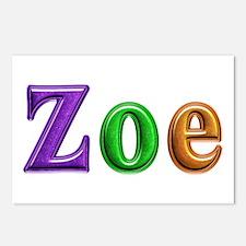 Zoe Shiny Colors Postcards 8 Pack