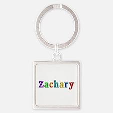 Zachary Shiny Colors Square Keychain