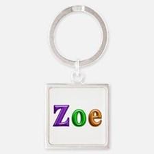 Zoe Shiny Colors Square Keychain