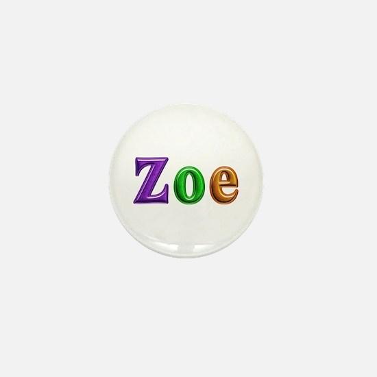 Zoe Shiny Colors Mini Button