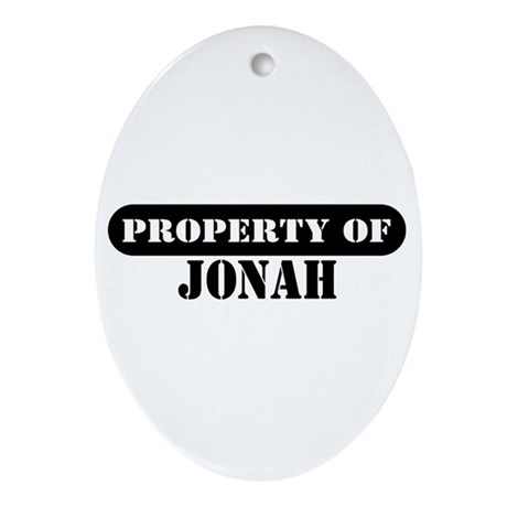 Property of Jonah Oval Ornament