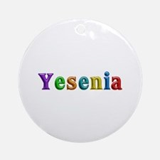Yesenia Shiny Colors Round Ornament