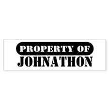 Property of Johnathon Bumper Bumper Sticker