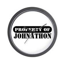 Property of Johnathon Wall Clock
