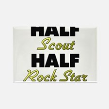 Half Scout Half Rock Star Magnets