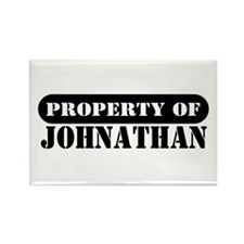 Property of Johnathan Rectangle Magnet
